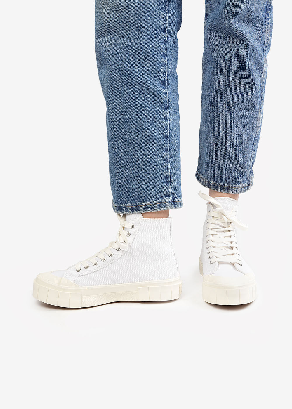 GOOD NEWS White Juice Sneakers — Shop sustainable fashion and slow fashion at New Classics Studios