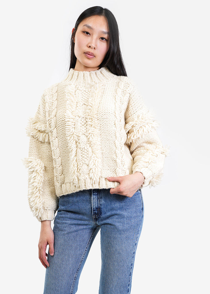 Kordal Studio Cable Knit Fringe Sweater — New Classics Studios