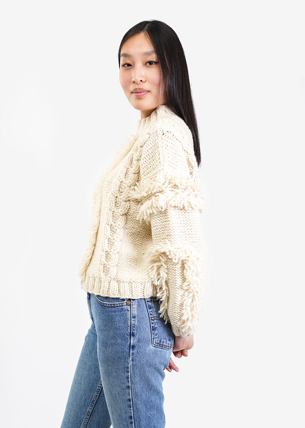 Kordal Studio Cable Knit Fringe Sweater — Shop sustainable fashion and slow fashion at New Classics Studios