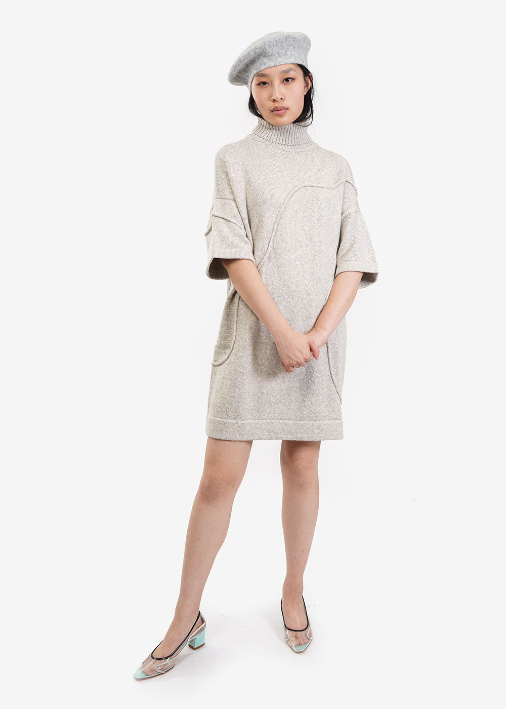 Kordal Studio Grey Marlow Dress — Shop sustainable fashion and slow fashion at New Classics Studios