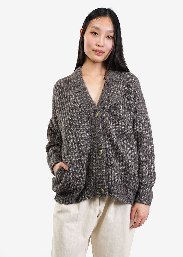 Lauren Manoogian Barnwood Grandma Cardigan — Shop sustainable fashion and slow fashion at New Classics Studios