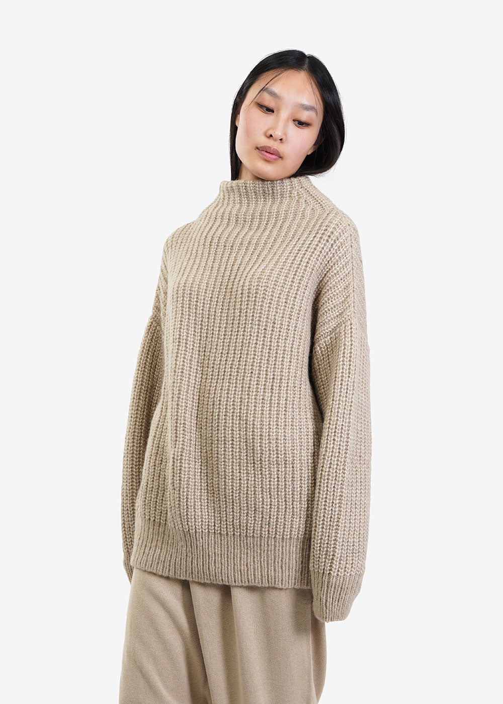 Lauren Manoogian Willow Fisherwoman Mockneck Sweater — New Classics Studios