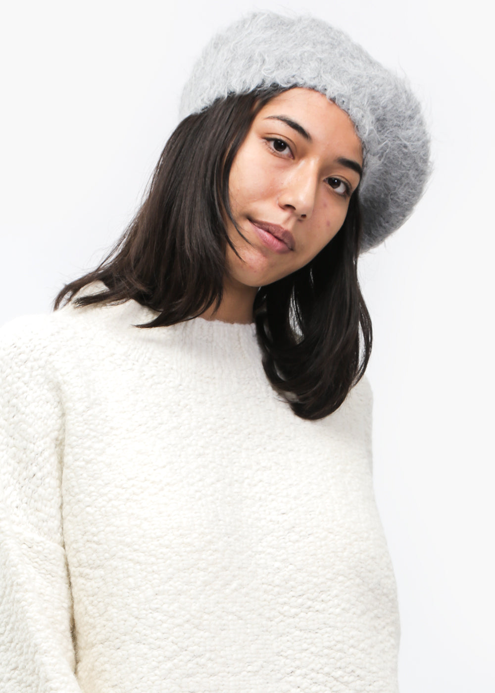 Lauren Manoogian Grey Beret — Shop sustainable fashion and slow fashion at New Classics Studios