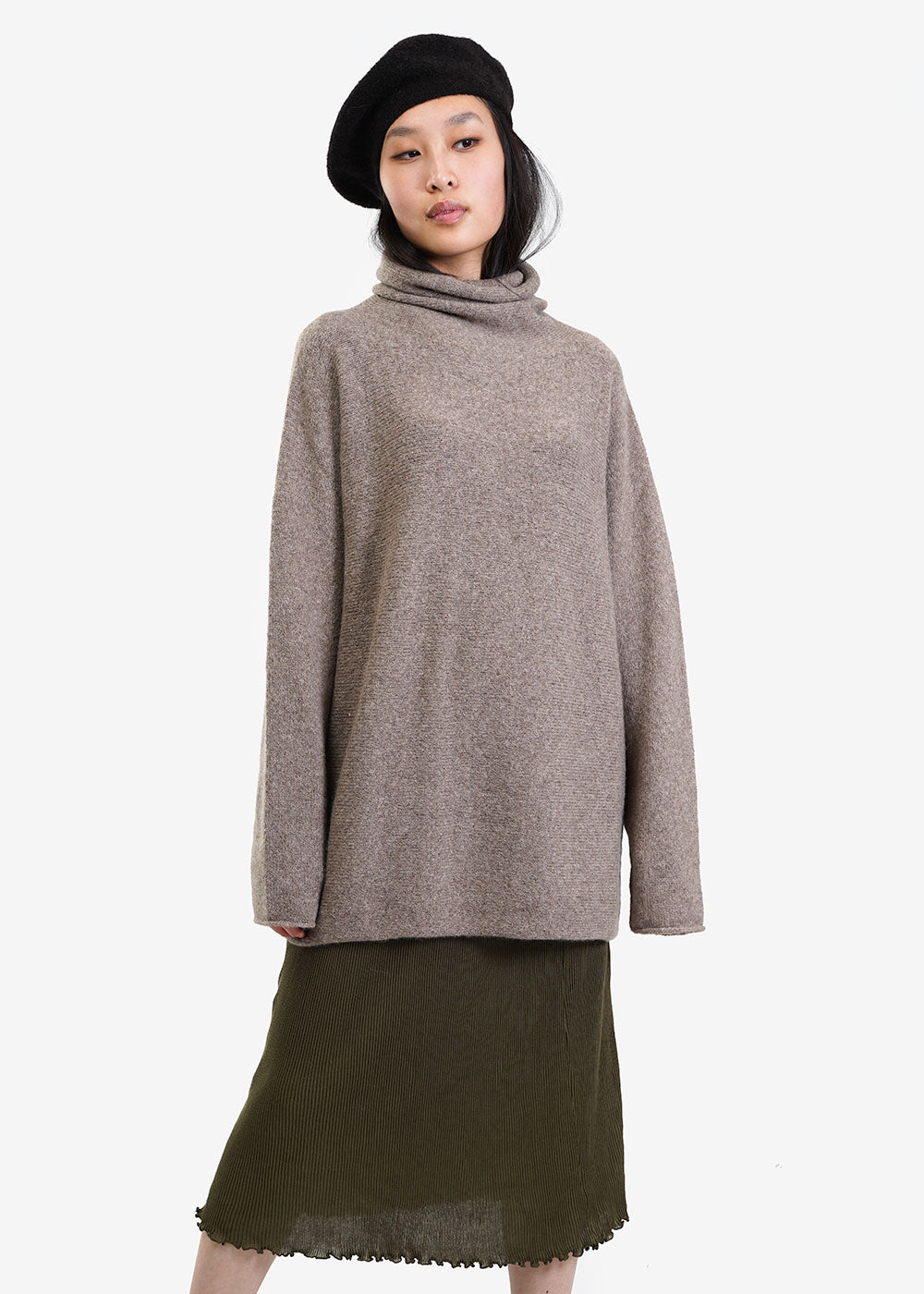 Lauren Manoogian Mouse Horizontal Cowlneck Sweater — Shop sustainable fashion and slow fashion at New Classics Studios