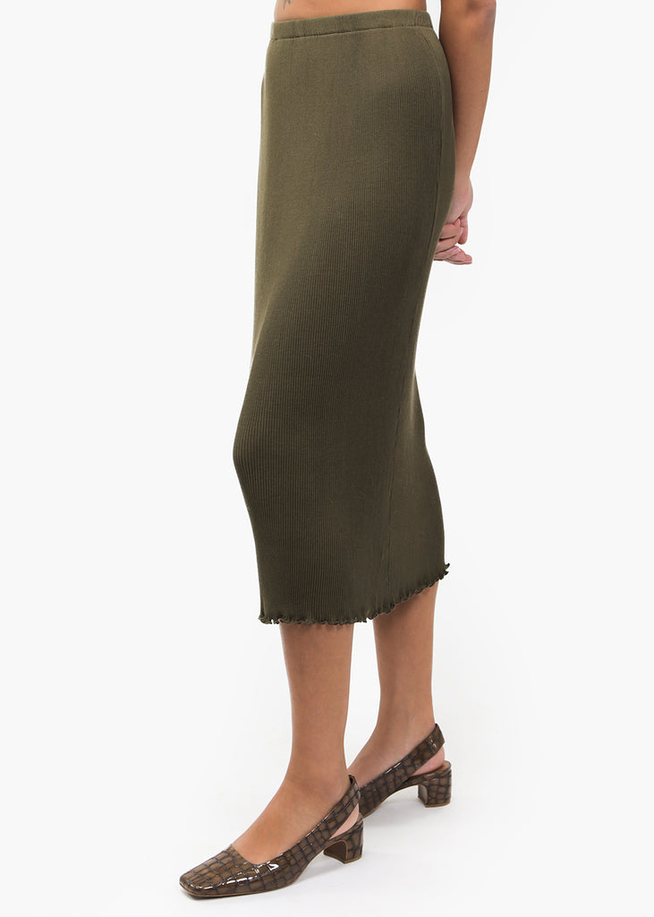 Olive Accordion Skirt