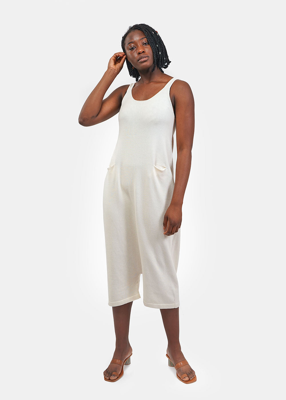 Lauren Manoogian Raw White Playa Suit — Shop sustainable fashion and slow fashion at New Classics Studios