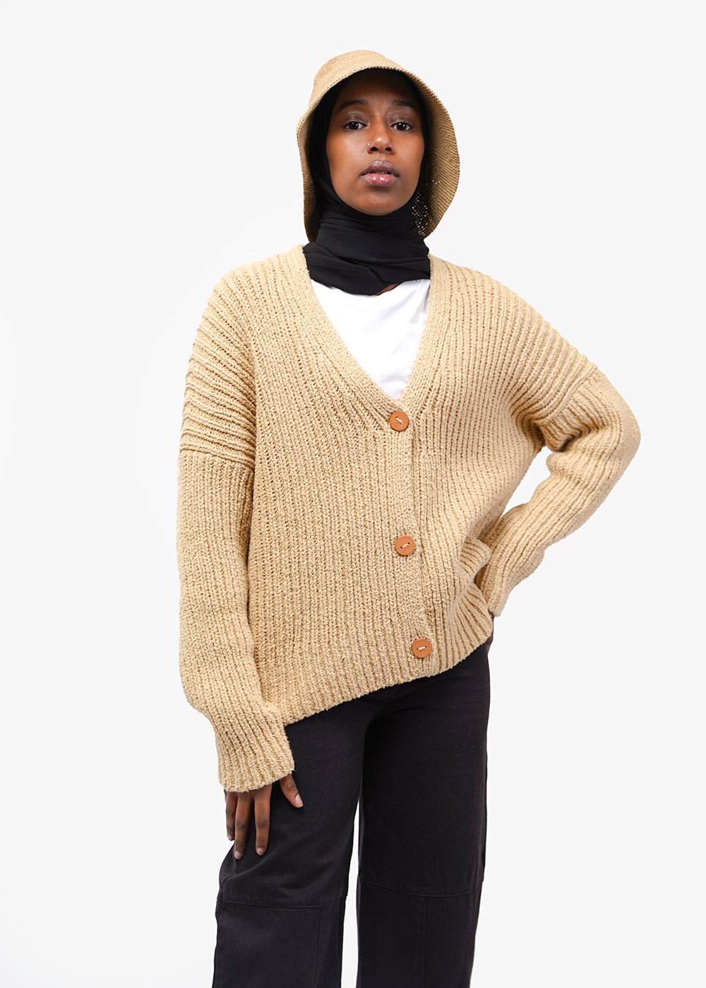Lauren Manoogian Rib Boucle Cardigan — New Classics Studios