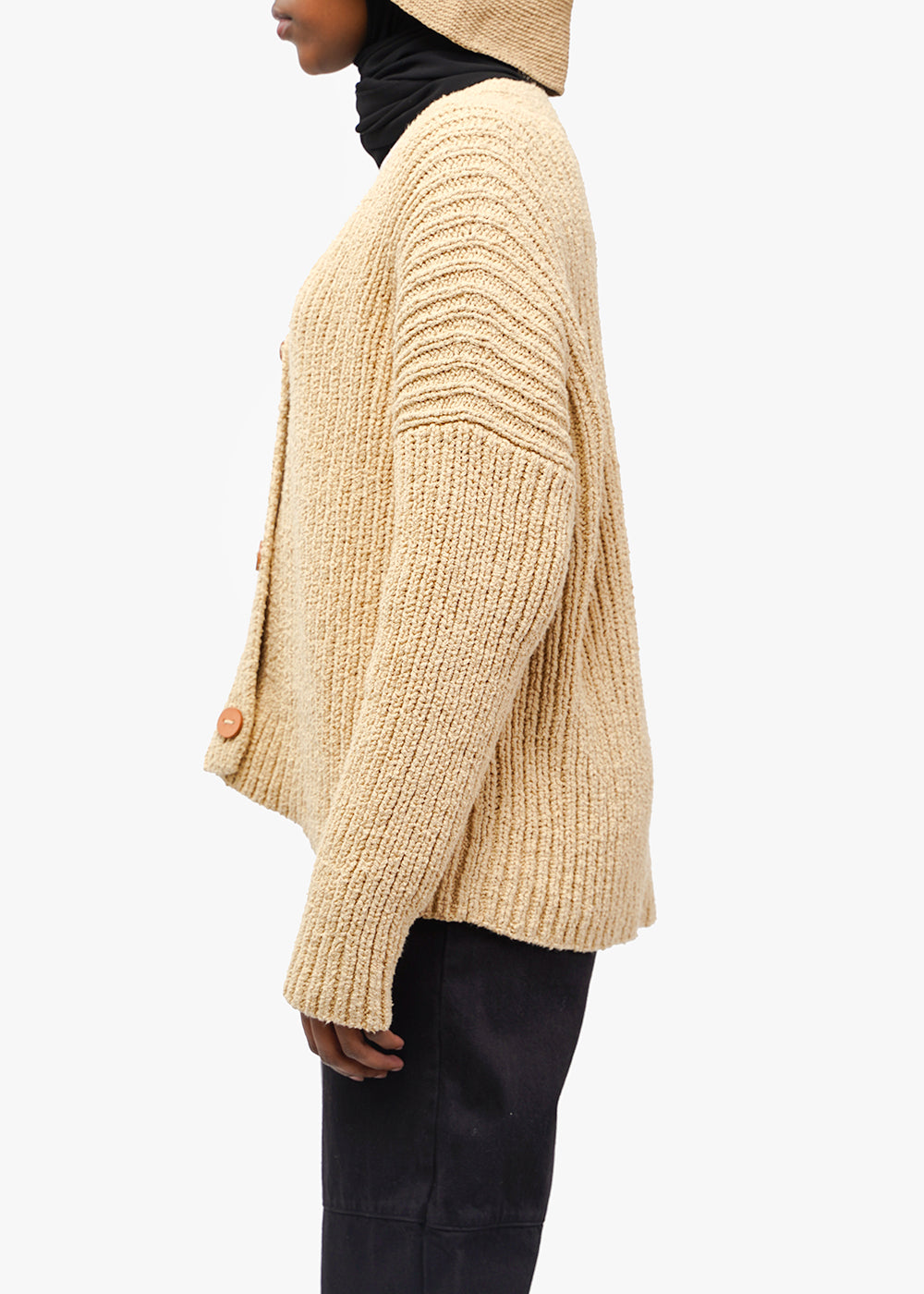 Lauren Manoogian Rib Boucle Cardigan — Shop sustainable fashion and slow fashion at New Classics Studios