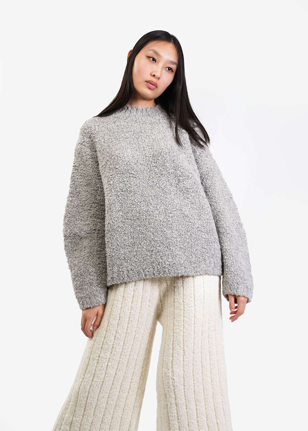 Lauren Manoogian Smoky Astrakhan Pullover — Shop sustainable fashion and slow fashion at New Classics Studios