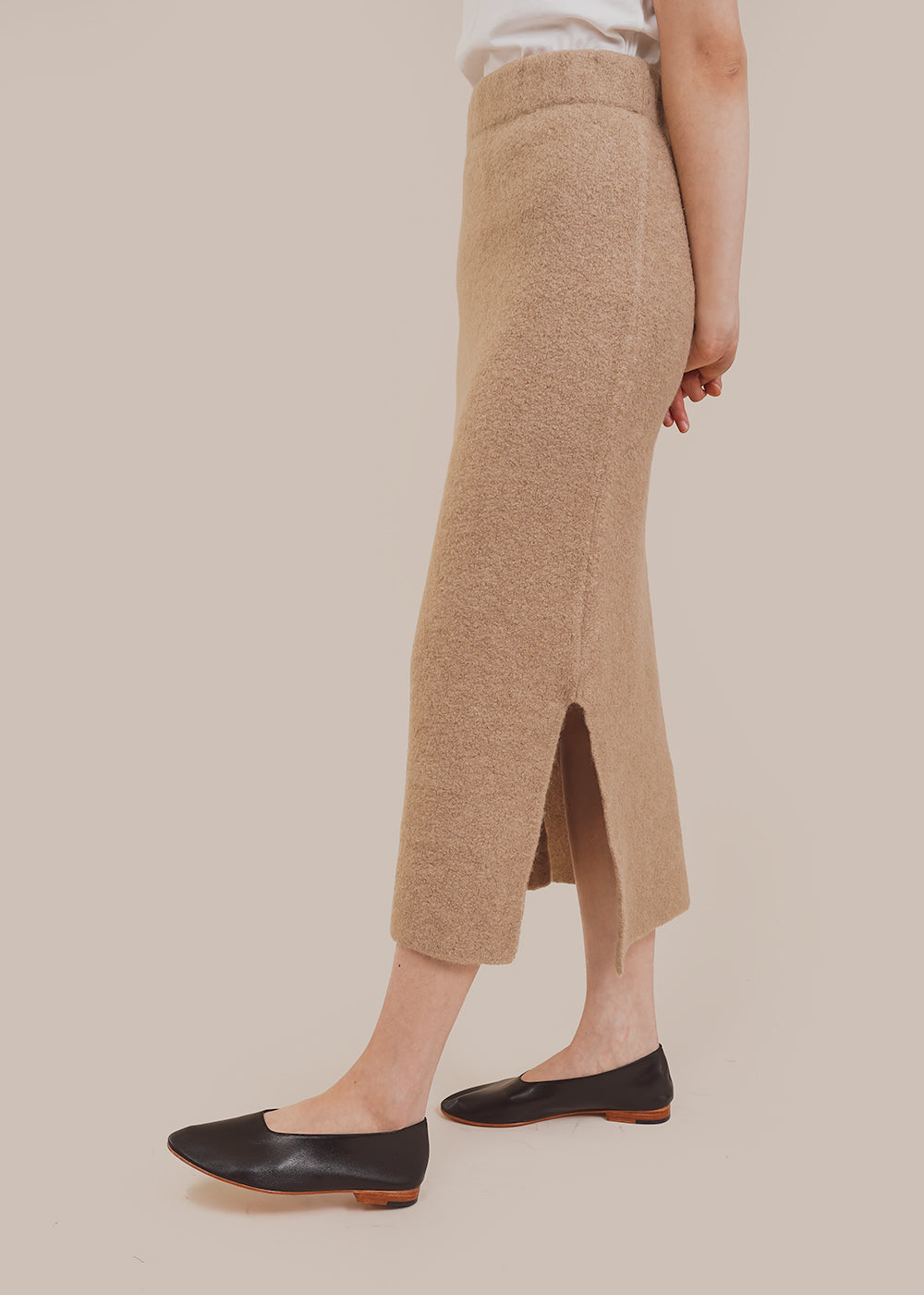 Ecru Split Skirt