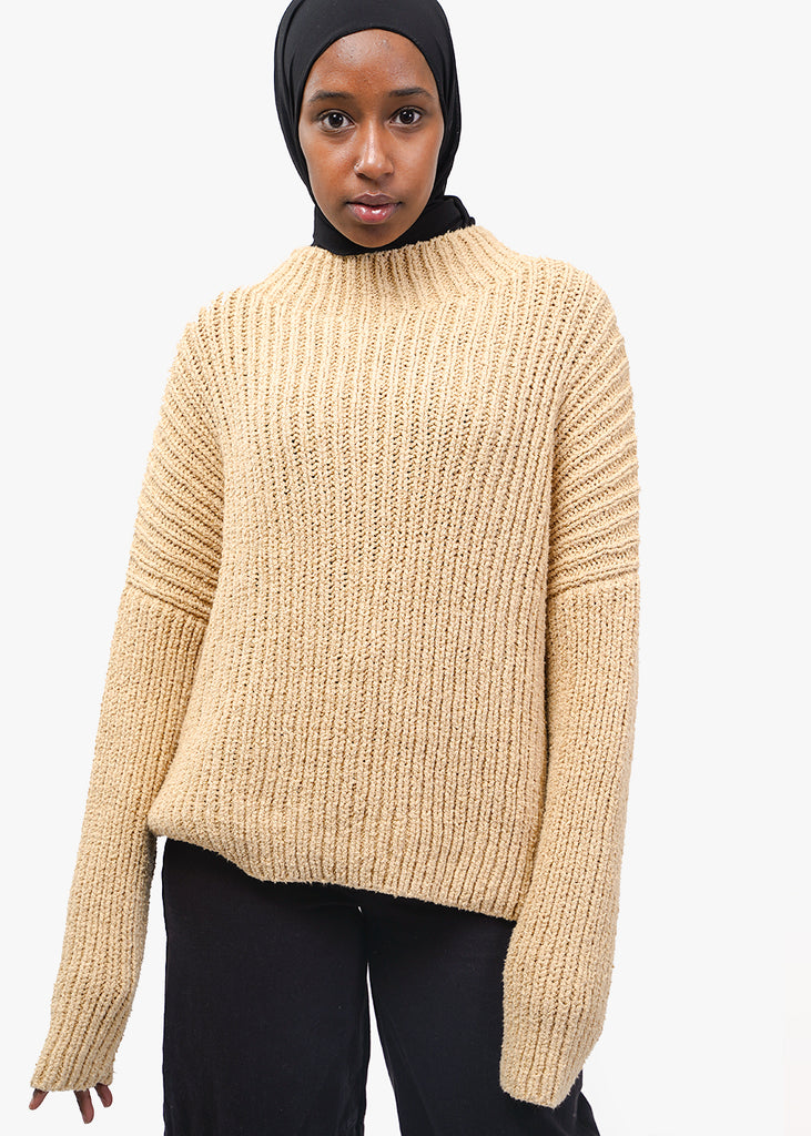 Lauren Manoogian Straw Rib Boucle Pullover — Shop sustainable fashion and slow fashion at New Classics Studios