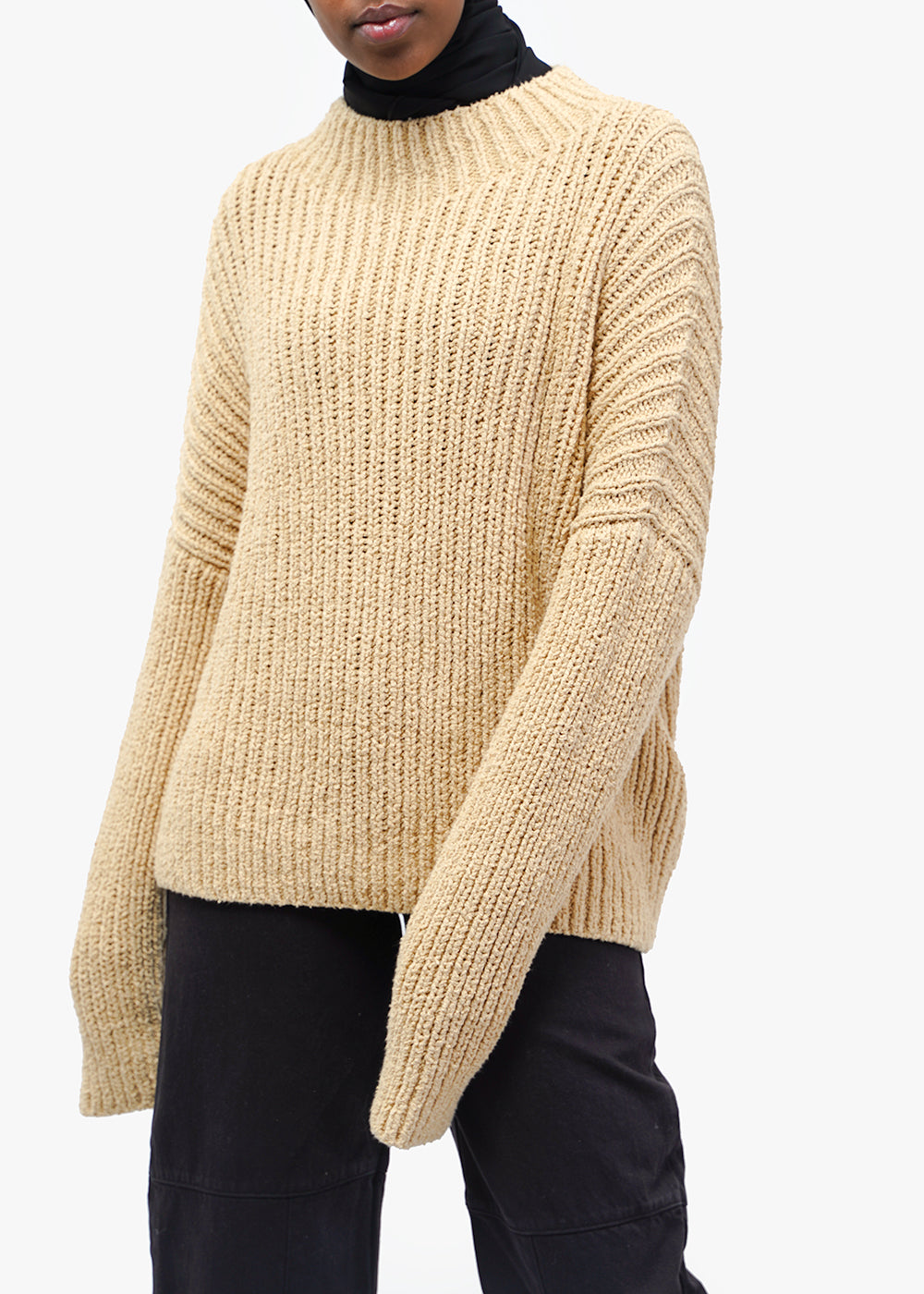 Straw Rib Boucle Pullover