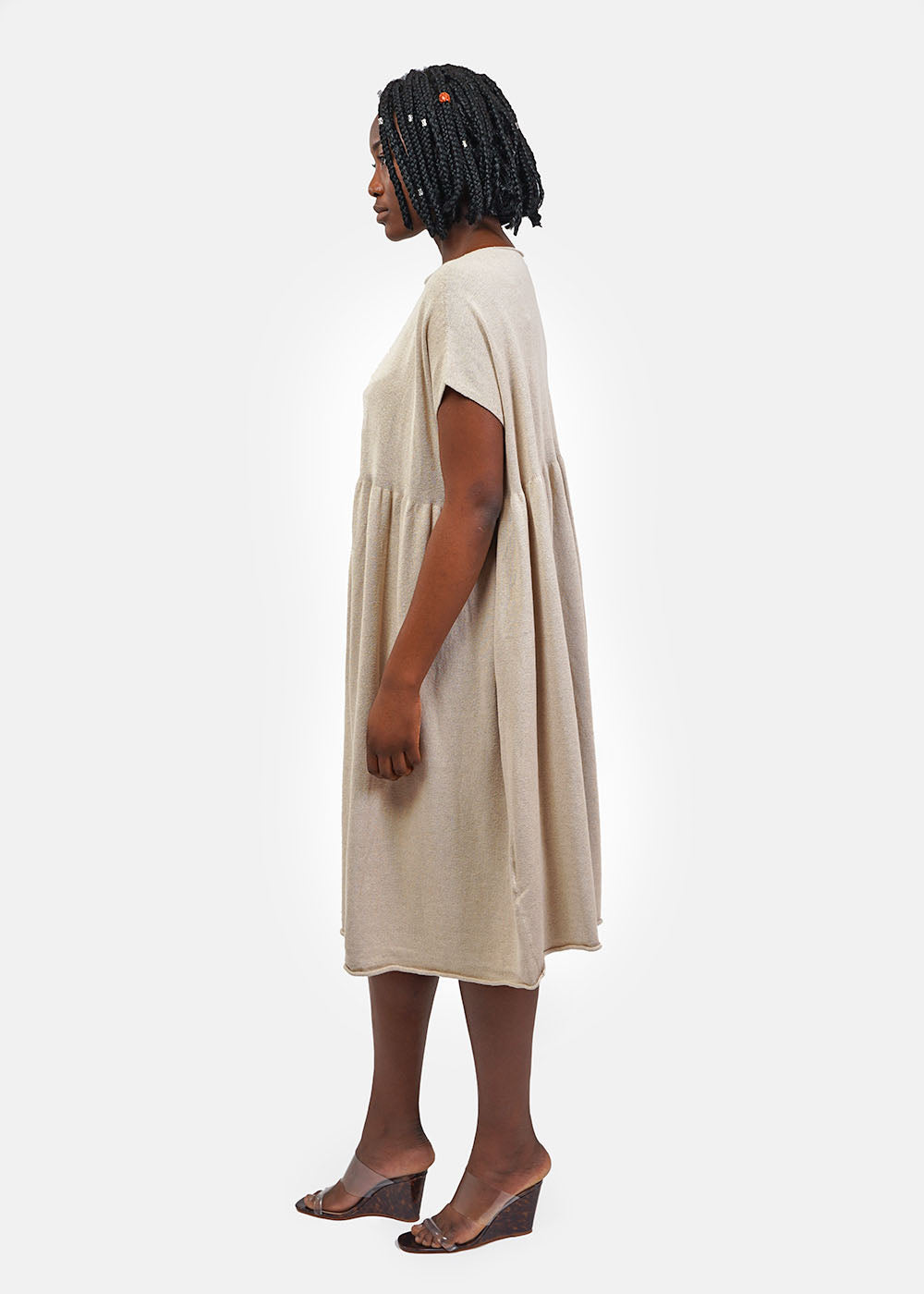 Natural Tier Caftan