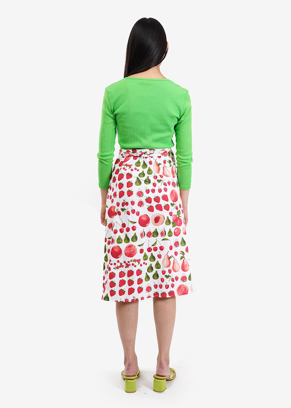 Lisa Says Gah Fruit Print Capri Wrap Skirt — Shop sustainable fashion and slow fashion at New Classics Studios