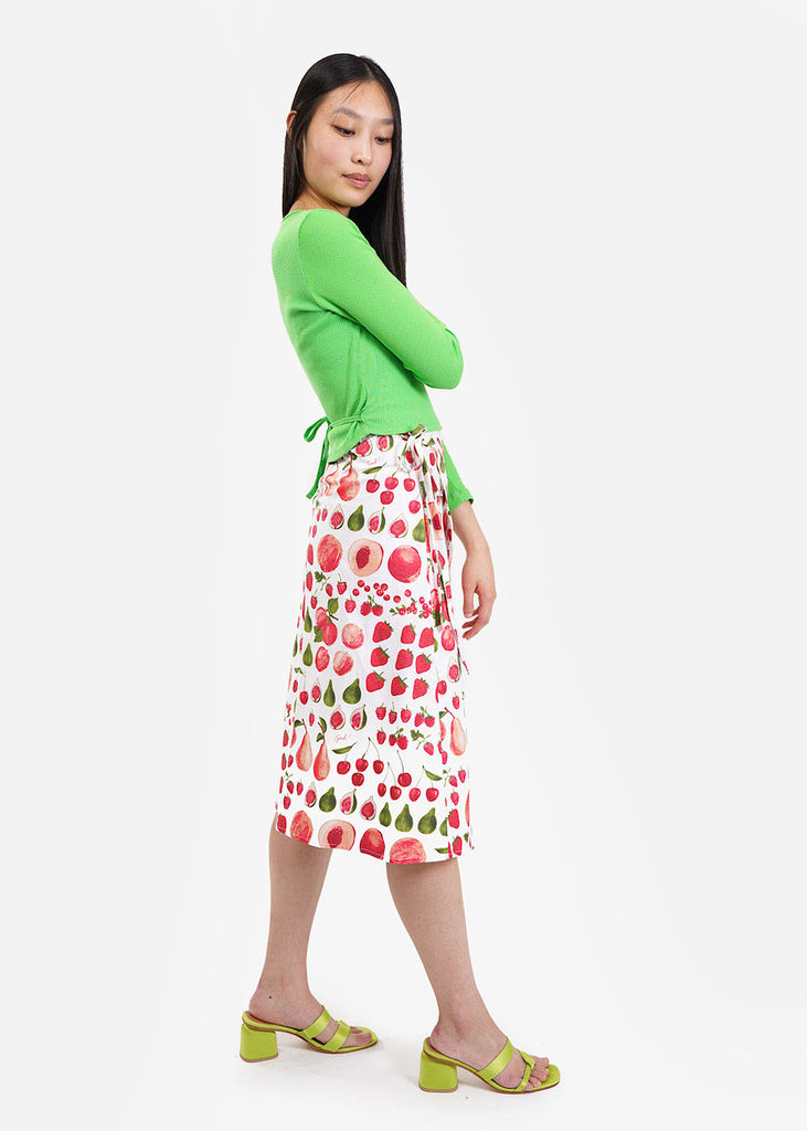 Lisa Says Gah Fruit Print Capri Wrap Skirt — New Classics Studios