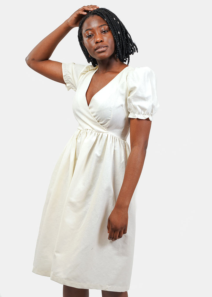Lisa Says Gah Ivory Topanga Midi Dress — Shop sustainable fashion and slow fashion at New Classics Studios