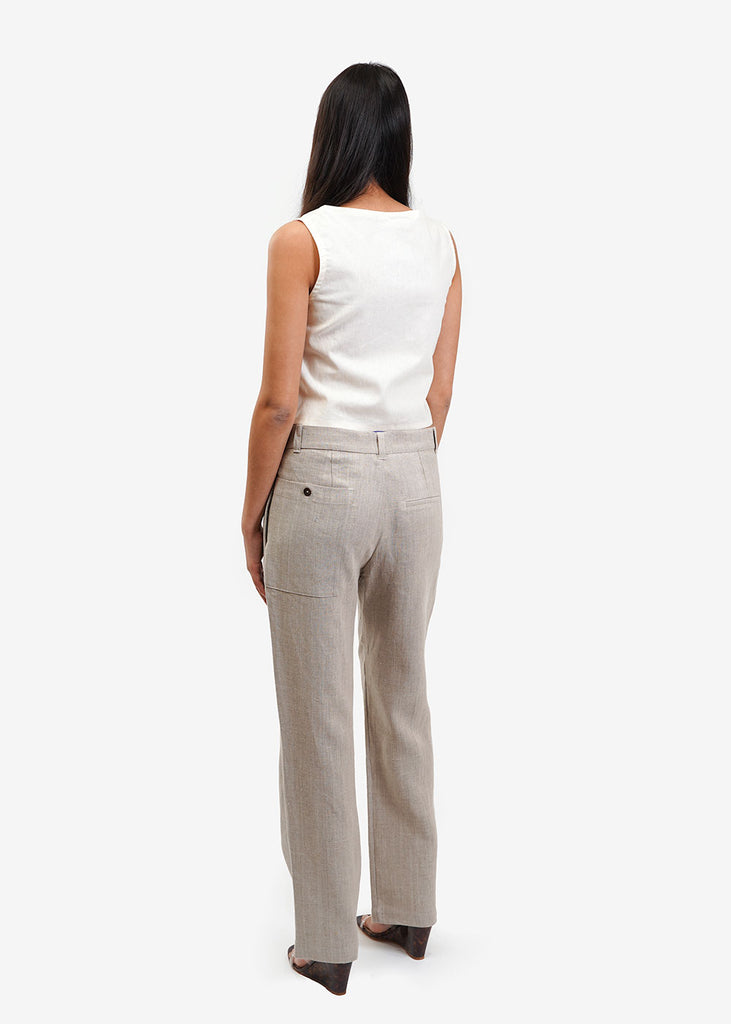 Lisa Says Gah Ivory Capri Tie Top — New Classics Studios