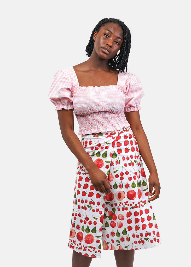 Lisa Says Gah Pink Gingham Toni Top — New Classics Studios