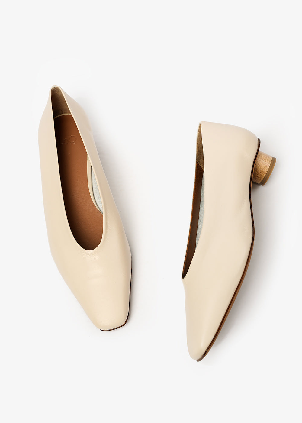 LoQ Crema Paz Heels — Shop sustainable fashion and slow fashion at New Classics Studios