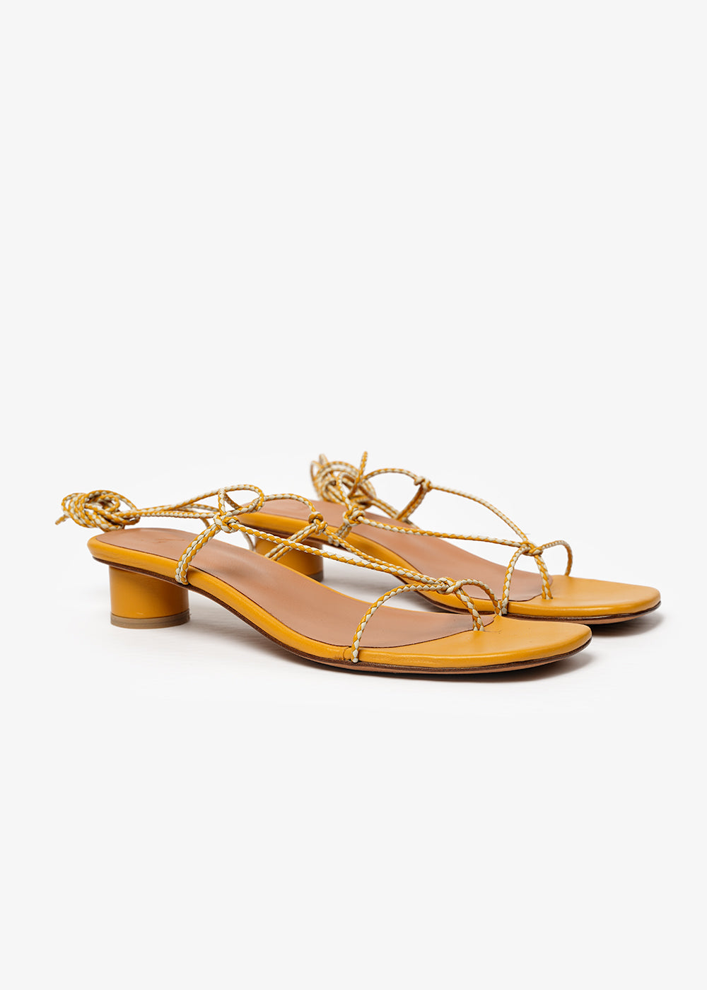LoQ Ochre Dora Sandals — Shop sustainable fashion and slow fashion at New Classics Studios