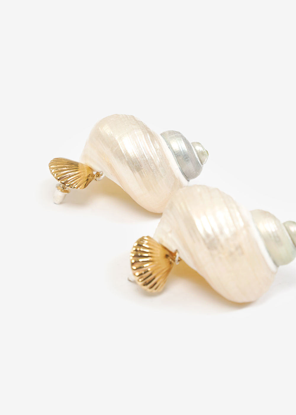 LUINY Concha & Caracol Shell Earrings — Shop sustainable fashion and slow fashion at New Classics Studios