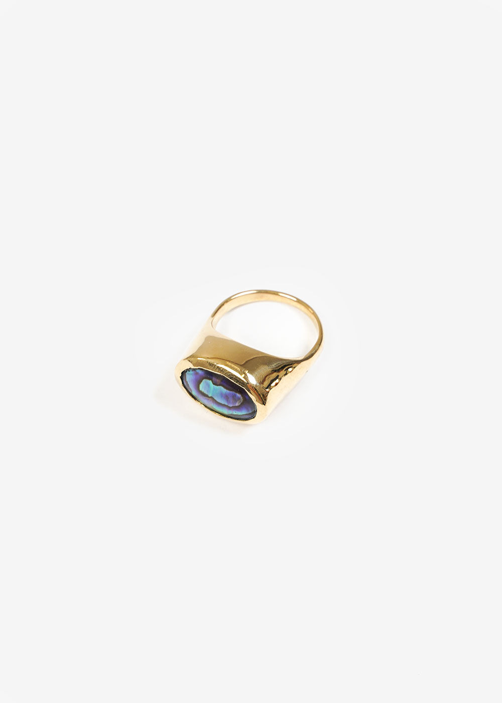 LUINY Abalone Pinky Ring No. 2 — Shop sustainable fashion and slow fashion at New Classics Studios