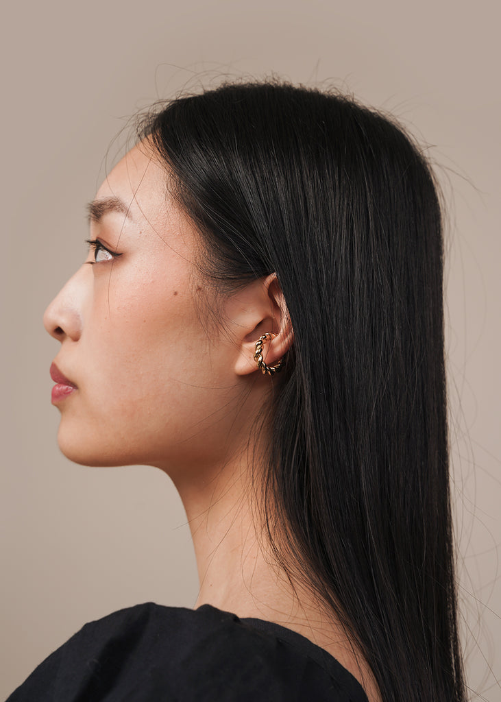 Interlaced Bold Ear Cuff