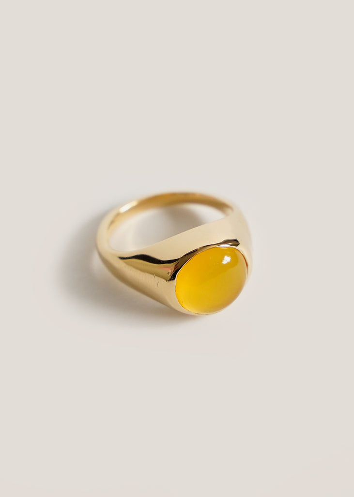Yellow Onyx Krasner Ring