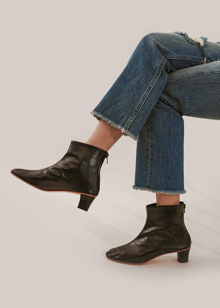 Martiniano Black High Leone Boots — Shop sustainable fashion and slow fashion at New Classics Studios