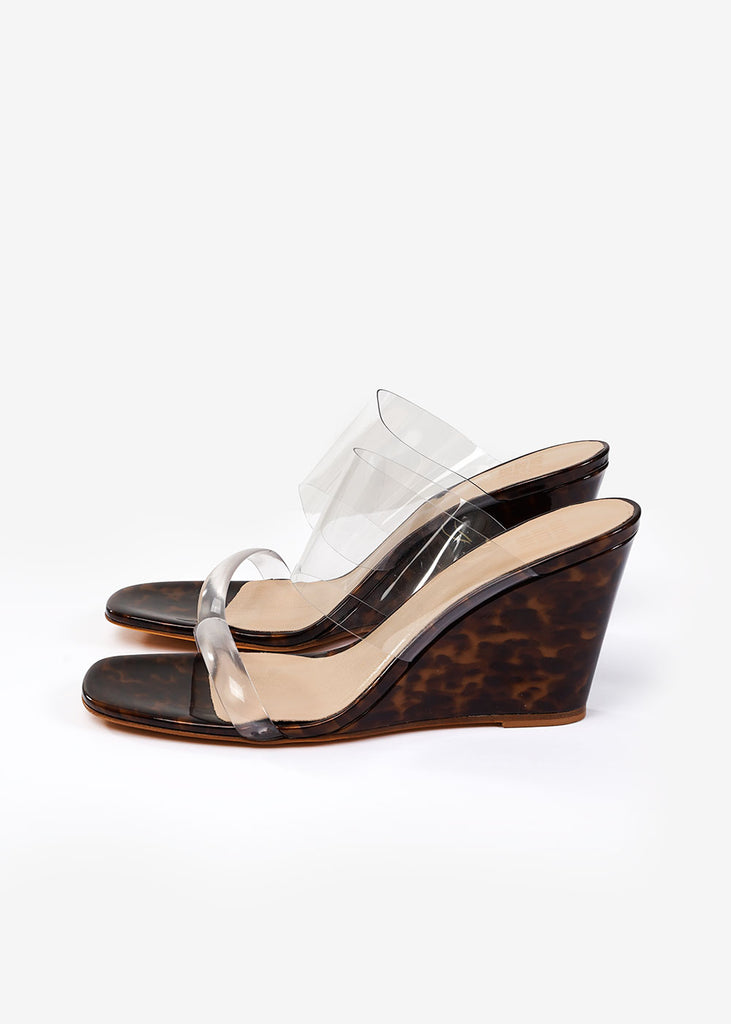 Maryam Nassir Zadeh True Tortoise Olympia Wedge — Shop sustainable fashion and slow fashion at New Classics Studios
