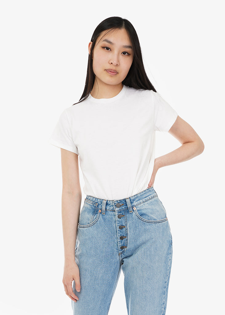 Baserange Off White Tee Shirt — Shop sustainable fashion and slow fashion at New Classics Studios