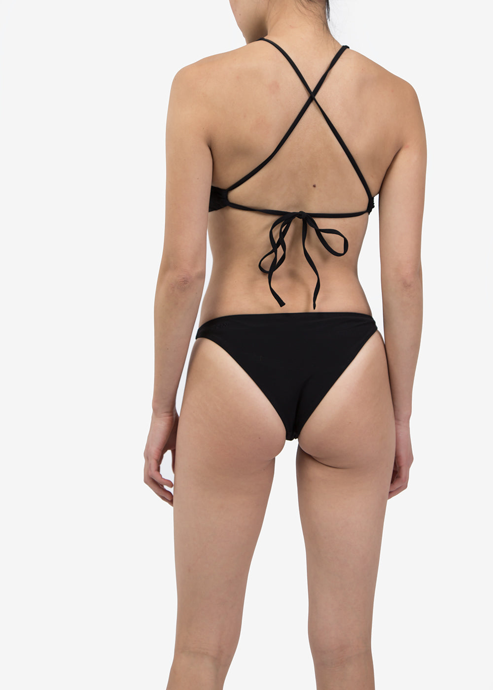 OCIN Black Halter Swim Top — Shop sustainable fashion and slow fashion at New Classics Studios