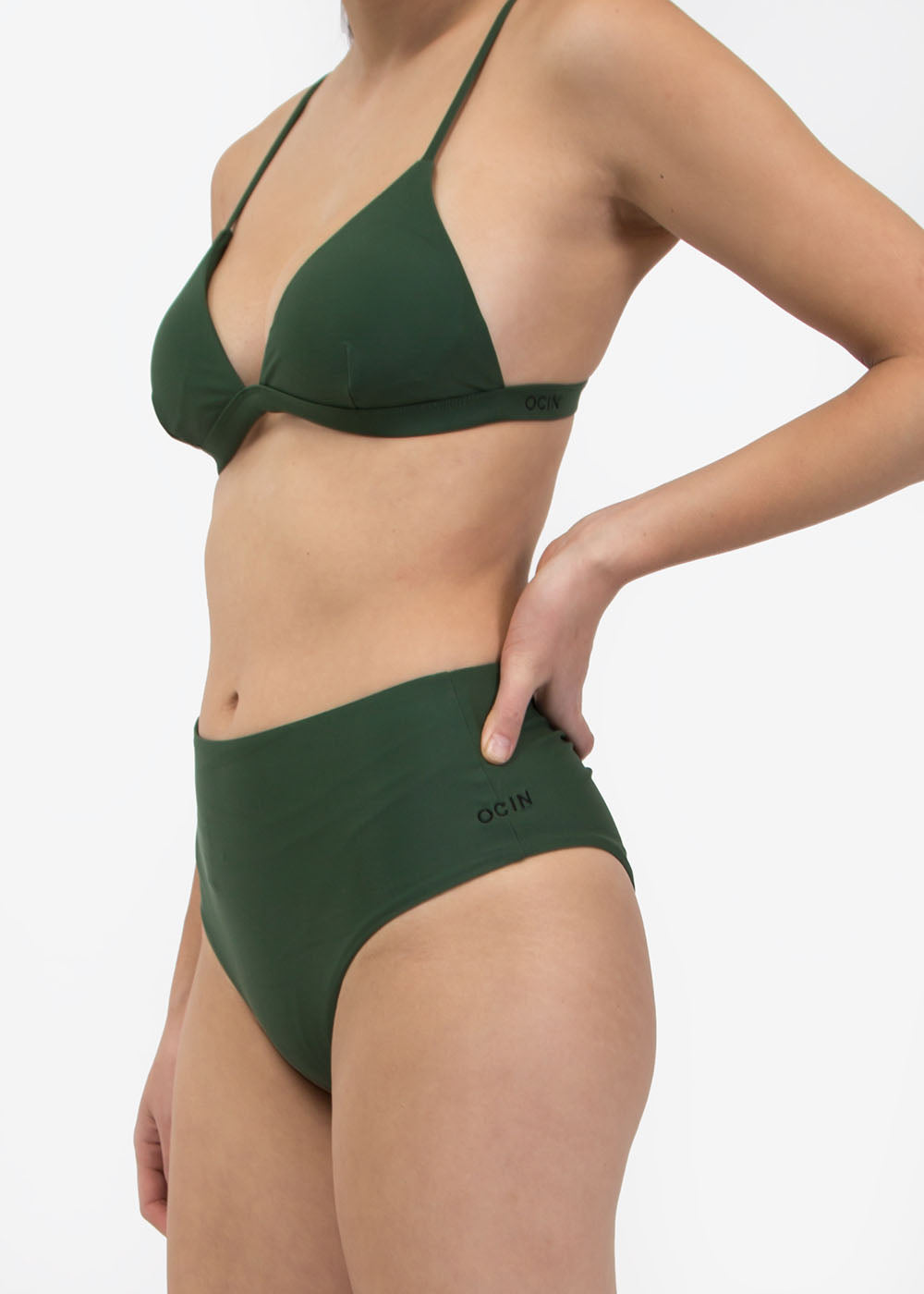OCIN Olivine Hi Waisted Swim Bottom — Shop sustainable fashion and slow fashion at New Classics Studios