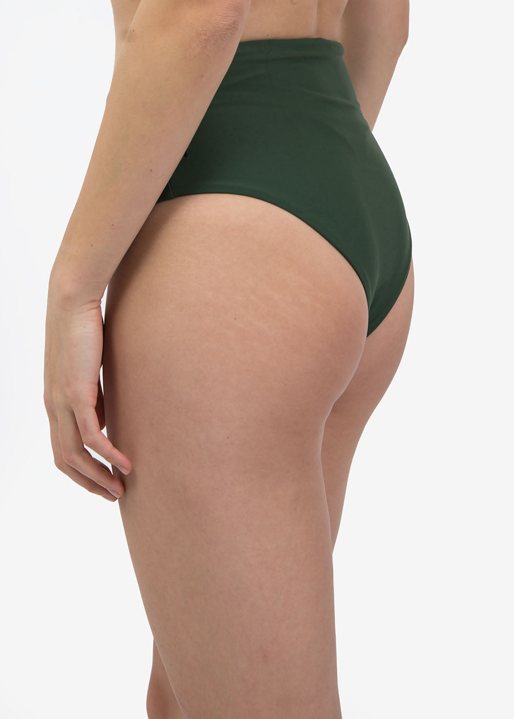 Olivine Hi Waisted Swim Bottom