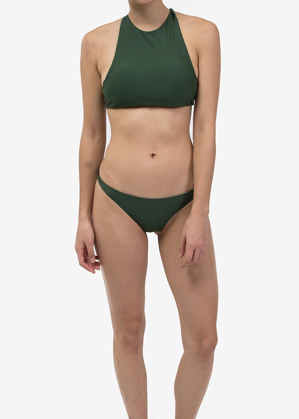 Olivine Halter Swim Top