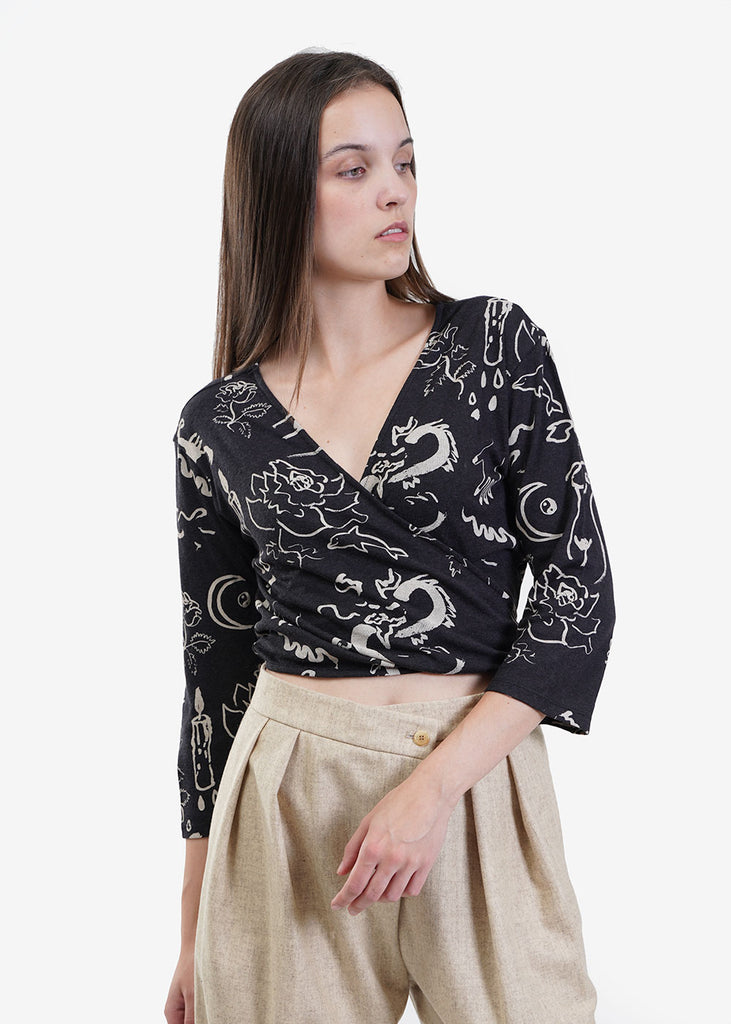 Paloma Wool De Rossi Wrap Top — Shop sustainable fashion and slow fashion at New Classics Studios