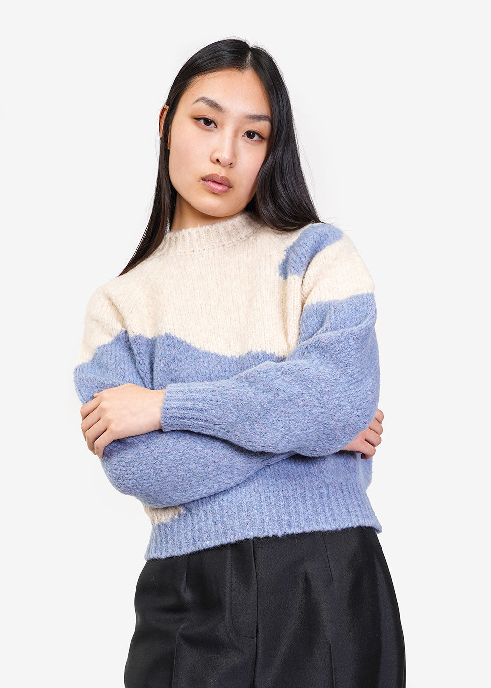 Paloma Wool Blue Yin Yang Sweater — Shop sustainable fashion and slow fashion at New Classics Studios