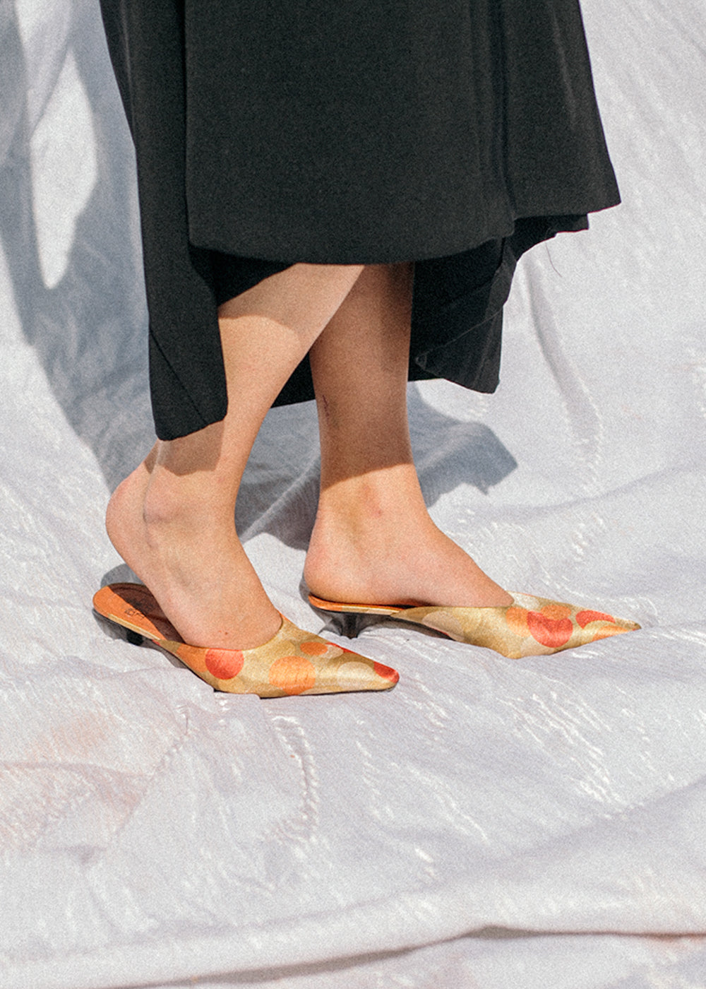 Pre by New Classics Vintage Retro Pointed Kitten Mules — Shop sustainable fashion and slow fashion at New Classics Studios