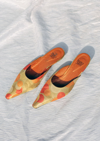 Vintage Tan Wedge Sandals