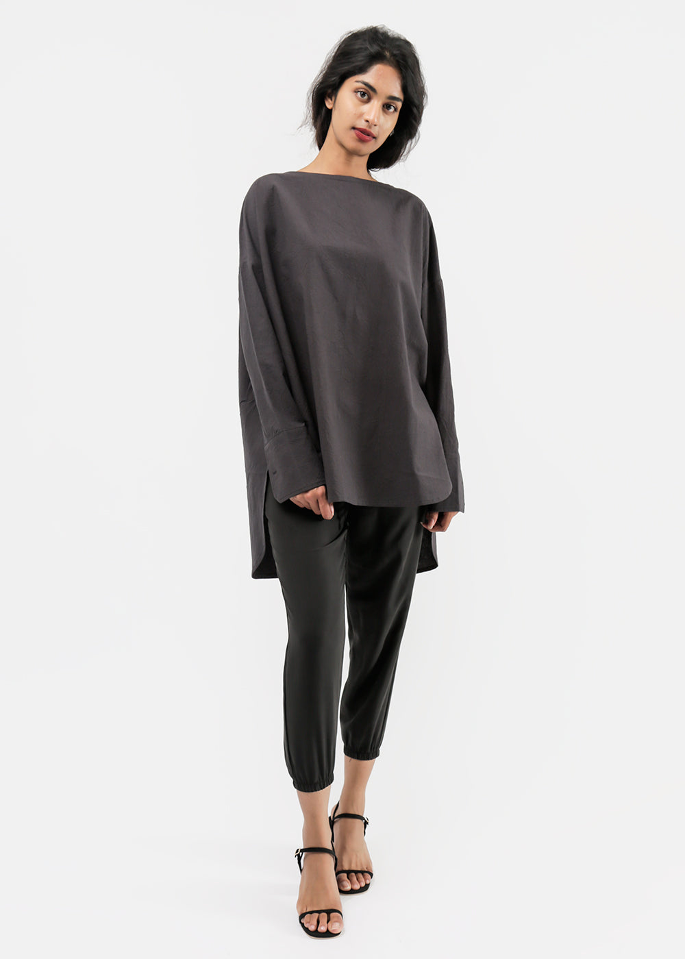 Priory Washed Black Selt Tunic — New Classics Studios