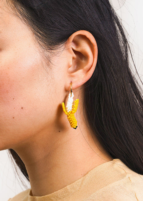 Banana Beaded Earring