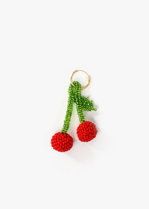Cherry Beaded Earring