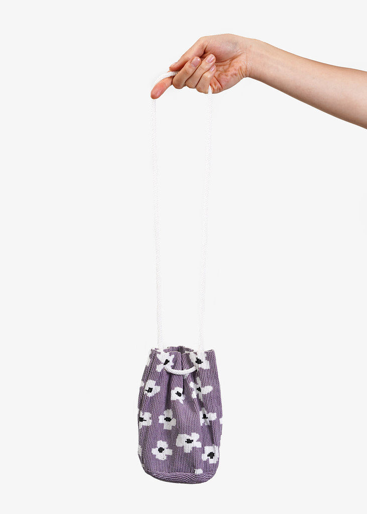 Pura Utz Grey Flower Beaded Bag — Shop sustainable fashion and slow fashion at New Classics Studios