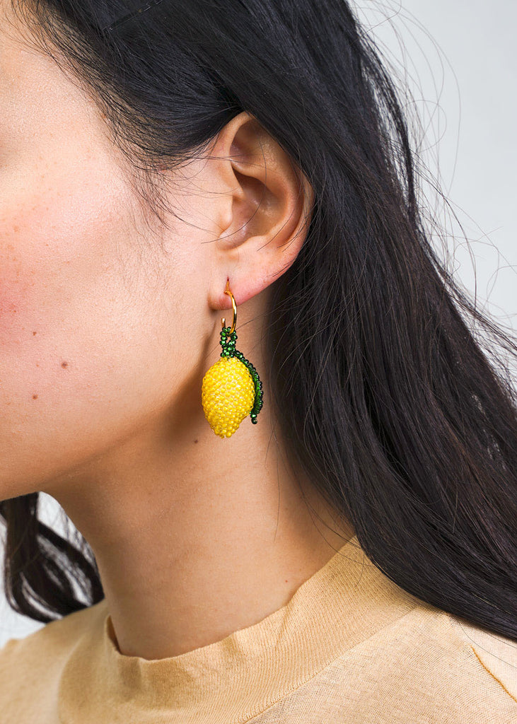 Pura Utz Lemon Beaded Earring — Shop sustainable fashion and slow fashion at New Classics Studios