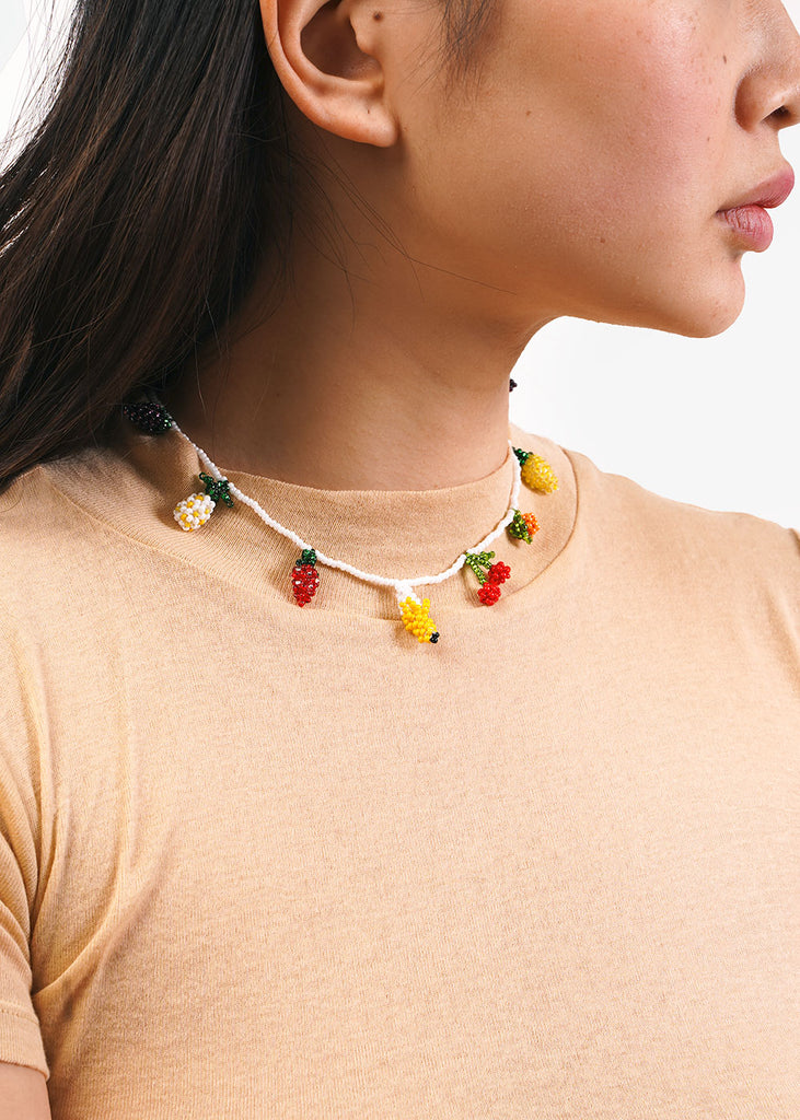 Pura Utz Fruit Salad Beaded Choker — Shop sustainable fashion and slow fashion at New Classics Studios