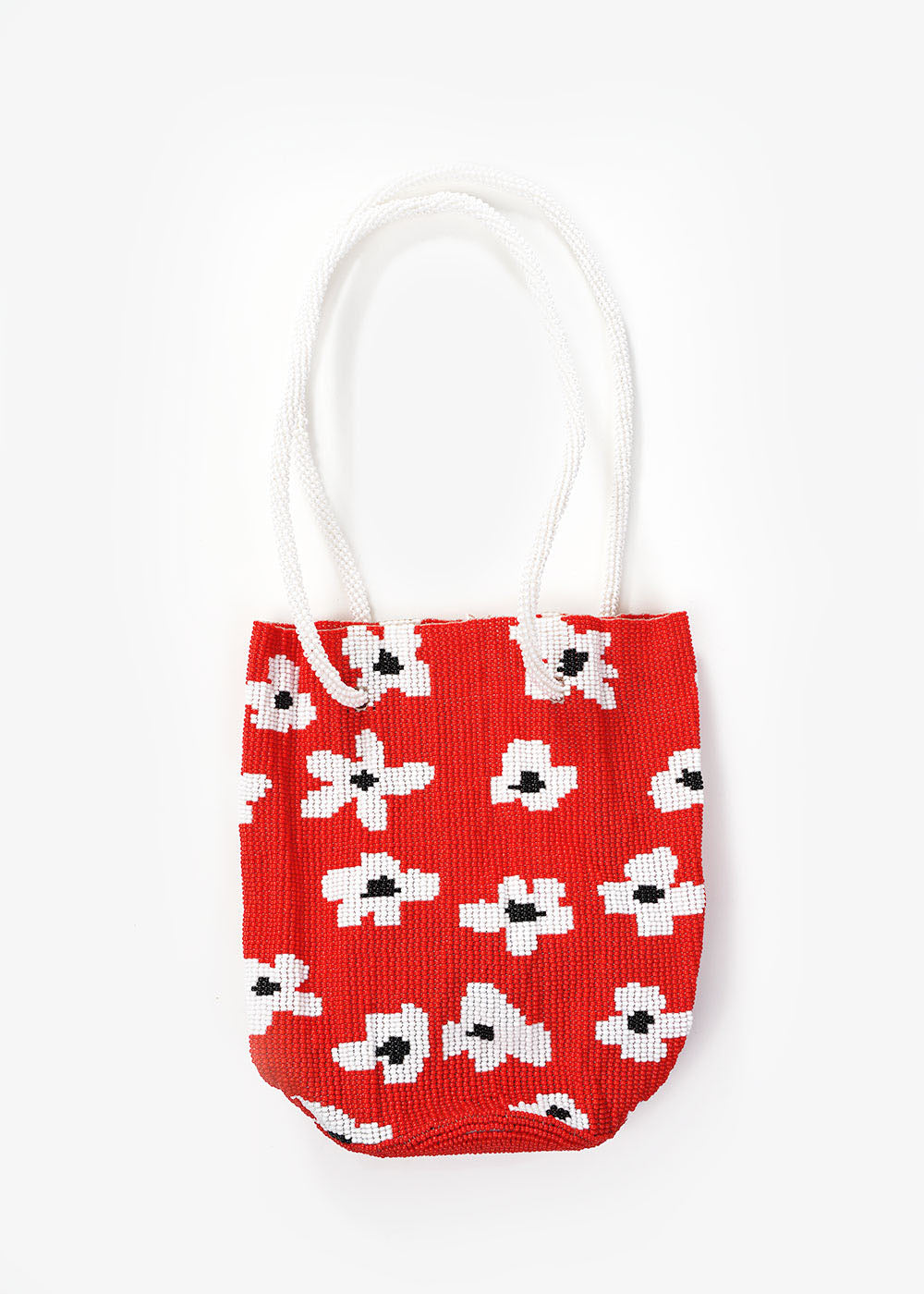 Red Flower Beaded Bag