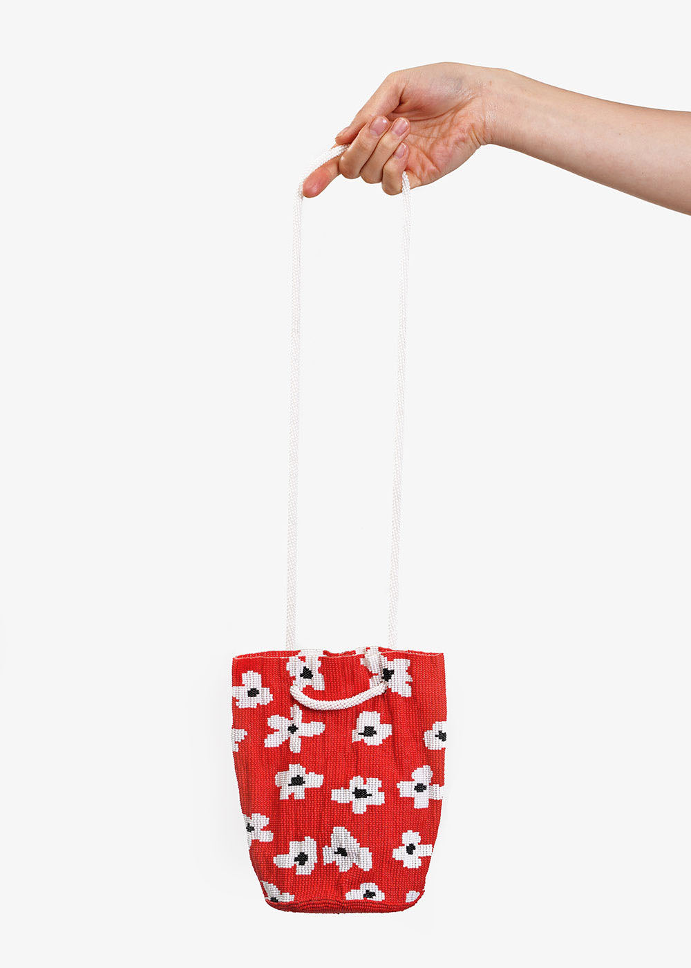 Pura Utz Red Flower Beaded Bag — Shop sustainable fashion and slow fashion at New Classics Studios
