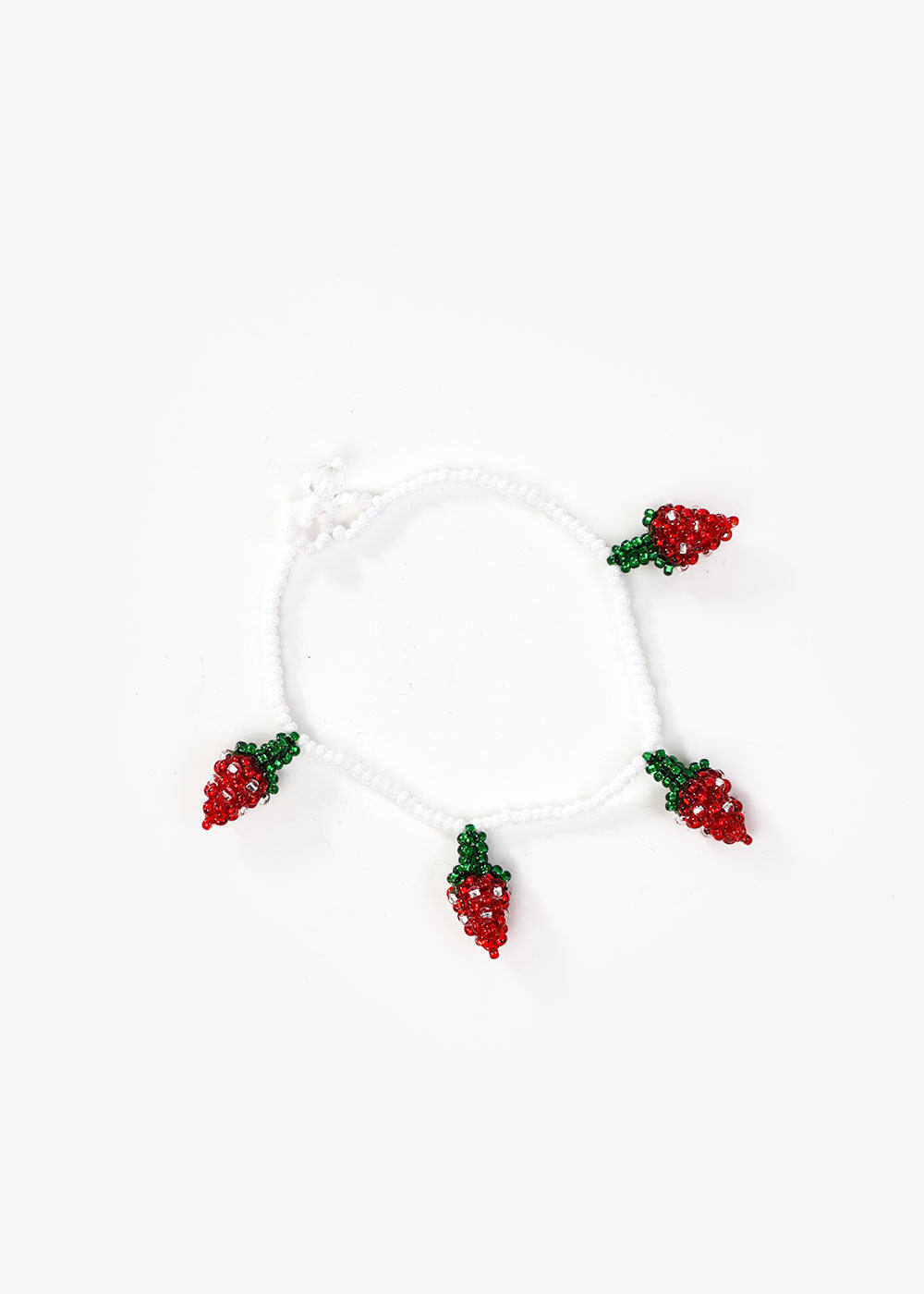 Strawberry Beaded Bracelet