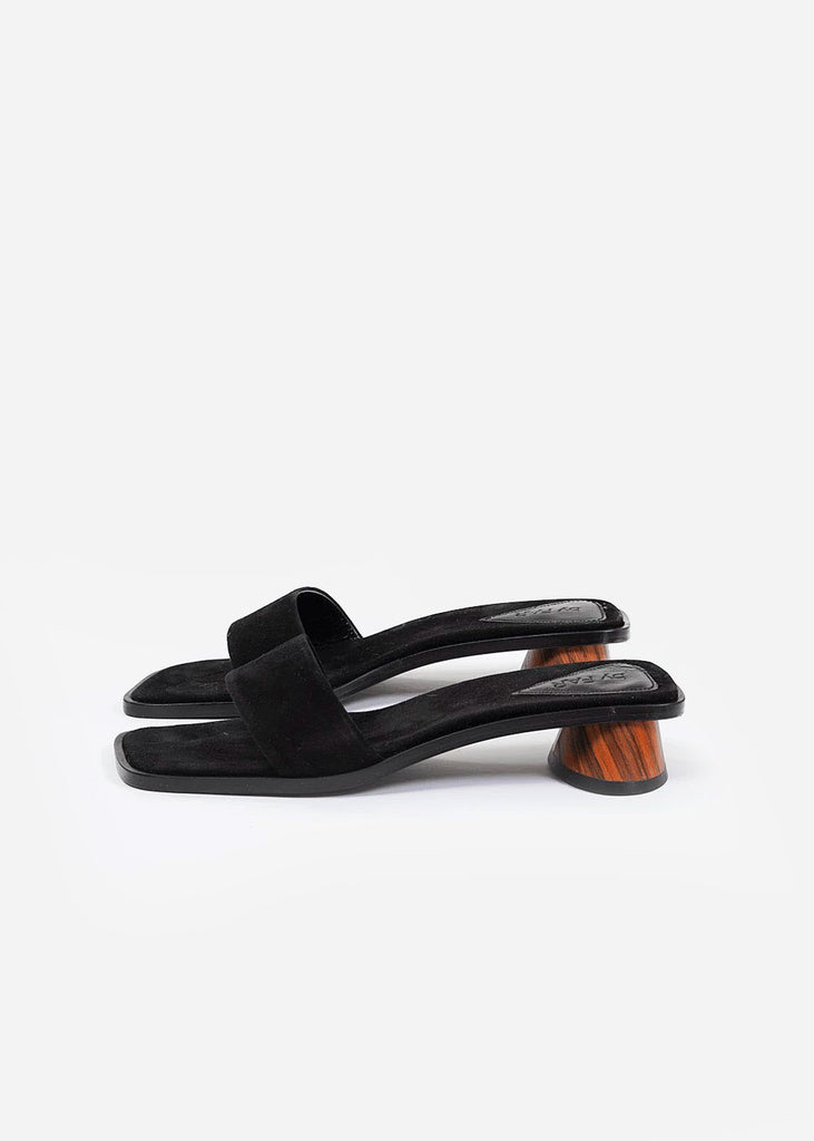 BY FAR Black Suede Sonia Mule — New Classics Studios