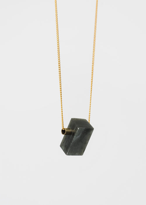 Charcoal Erode Stone Necklace